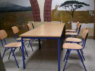 Einrichtung der Cafeteria