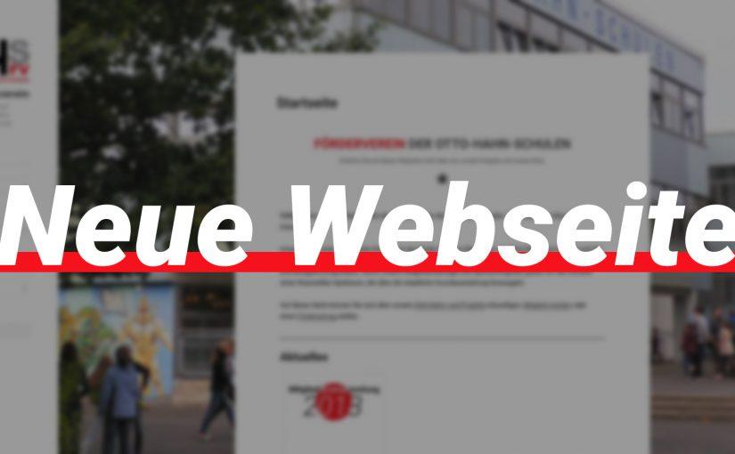 Neue Webseite des OHS Fördervereins